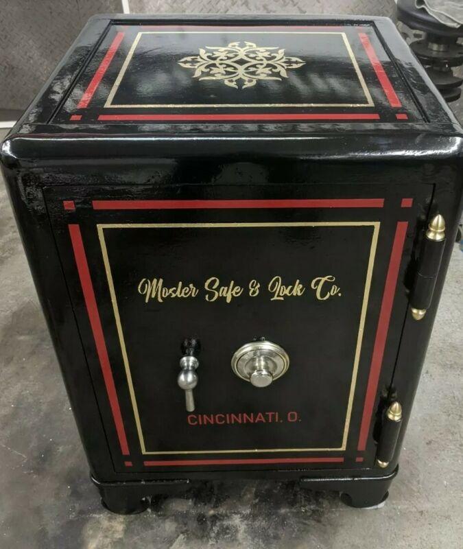 1884 Antique Mosler safe fully restored gold leaf hand painted w/ rare 4 digit