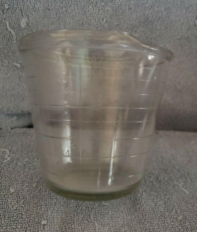 Hazel Atlas Measuring Cup No handle 16 oz Glass Vintage Rare