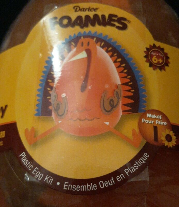 Darice Foamies Plastic Egg Kit  50 PC Mixed Media TURKEY  FUN & EASY CRAFT