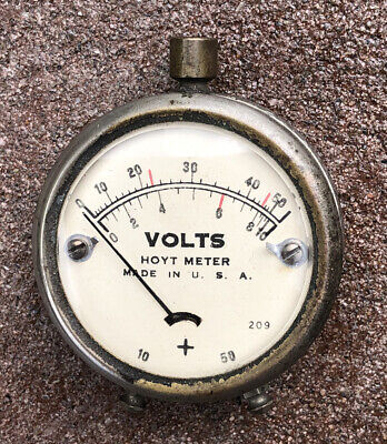 Vintage Hoyt Pocket Volt Meter Works