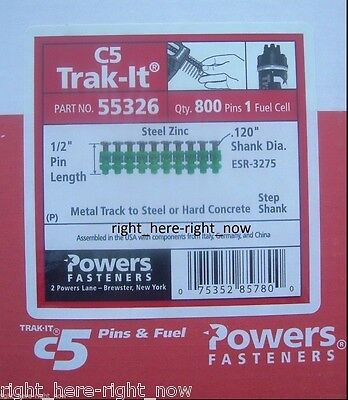 New Powers Trak-it C5 55326 12 Metal Track To Steel Pins With Fuel Cell