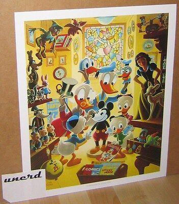Carl Barks Kunstdruck: In Uncle Walt's Collectery -Scrooge Donald Duck Art Print