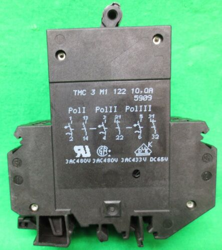 BOX of 2 / PHOENIX CONTACT TMC-3-M1-122-10.0A CIRCUIT BREAKER 10AMP  NEW SURPLUS
