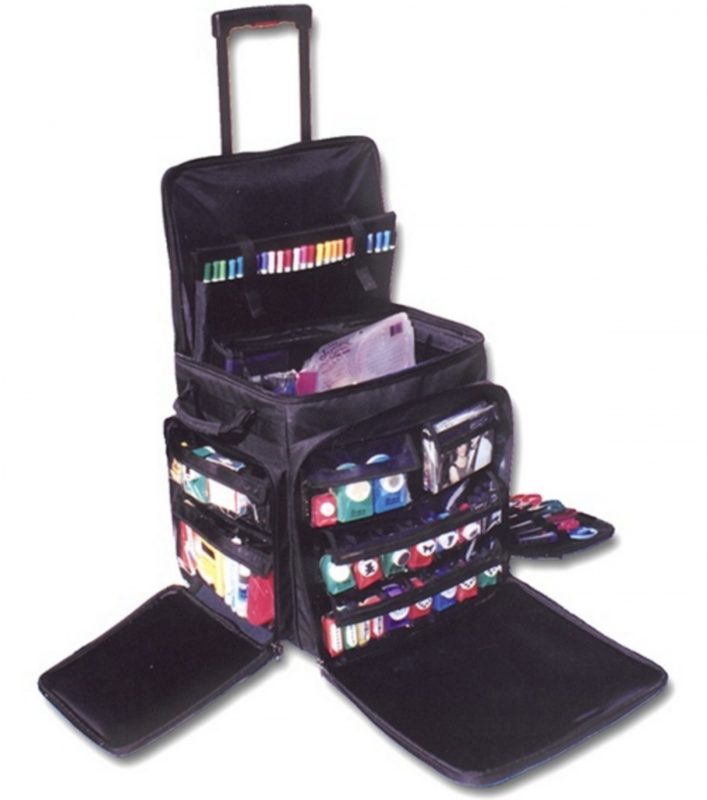 7043a3491f78 Rolling Tote Organizer Bag On Wheels Crafts Storage Luggage Travel  Scrapbooking
