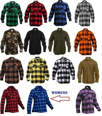Heavyweight Flannel - Rothco Flannel Shirts Heavyweight Brawny Buffalo Plaid Flannel Shirt Men & Women