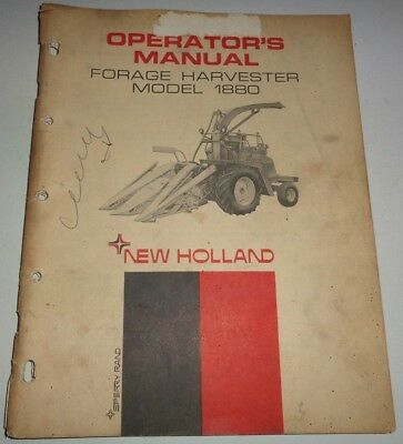 New Holland 1880 Forage Harvester Operators Owners Manual Chopper 368 Nh