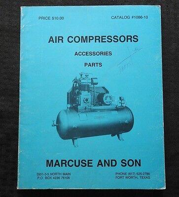 1986 Marcuse Son Air Compressor Catalog Curtis Sanborn Ingersoll-rand Champion