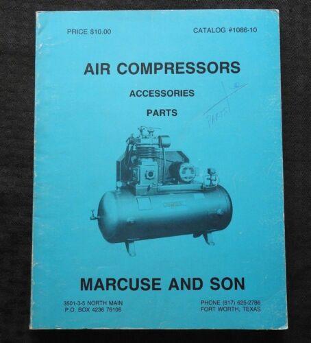1986 MARCUSE & SON AIR COMPRESSOR CATALOG CURTIS SANBORN INGERSOLL-RAND CHAMPION