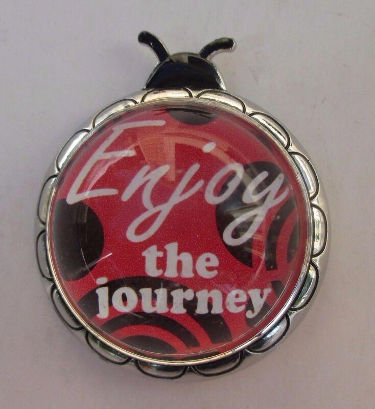 zzc Enjoy the journey LADYBUG MESSAGE FIGURINE miniature ganz