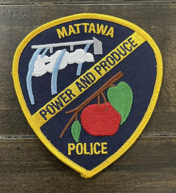 """Mattawa, Washington Police Patch, """"Power and Produce"""", WA Patch"""