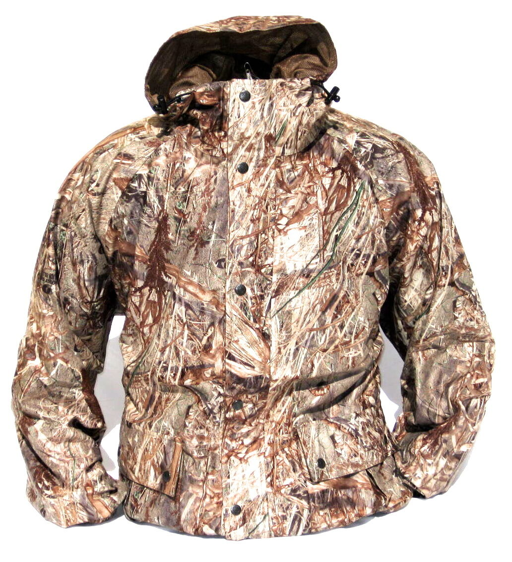 New CABELA'S Mossy Oak DUCK BLIND Waterfowl Waterproof Quiet Pack Hunting Jacket
