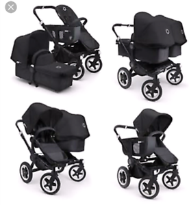 bugaboo donkey duo all black South Wentworthville Parramatta Area Preview