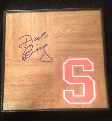 SYRACUSE ORANGE DAVE BING Signed Framed Floorboard
