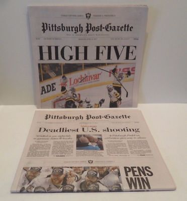 Pittsburgh Penguins 2016   2017 Stanley Cup Pittsburgh Post Gazette Newspaper