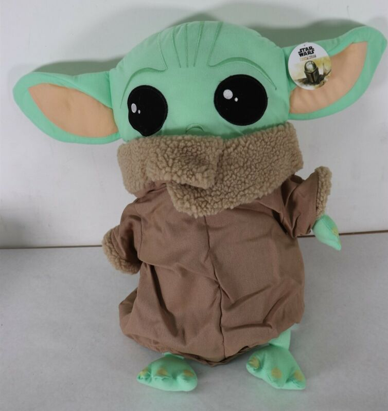 "Disney Star Wars Mandalorian The Child Pillow Buddy 18"" Baby Yoda New Free Ship"
