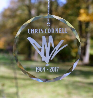 Handmade Etched Chris Cornell Ornament / Suncatcher - Donation Sale