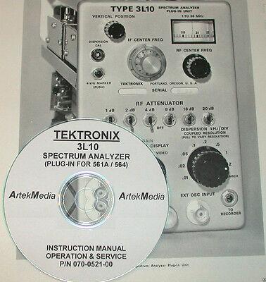 Tek Tektronix 3l10 Spectrum Analyzer Operating Service Manual