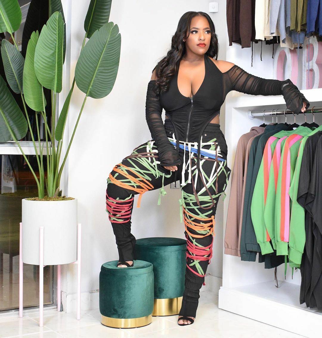 Fashion Women Bandage Patchwork Hippie Style Elastic Waist Casual Pants Trousers