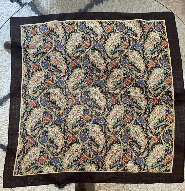 Vintage LIBERTY OF LONDON Wool Patterned Floral Scarf