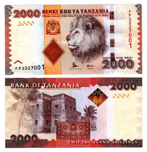 2015 Tanzania 2000 Shillings Uncirculated Note