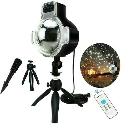 Snowfall LED Light Snowflake Projector Lamp for Christmas Indoor Outdoor Decor ()