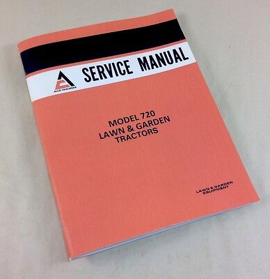 Allis Chalmers Model 720 Lawn Garden Tractors Service Repair Shop Manual Mower