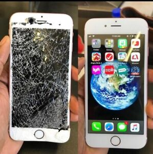 iphone Screen Repair starting 40$ {5,6,6S,7,8,X} WE COME TO YOU.