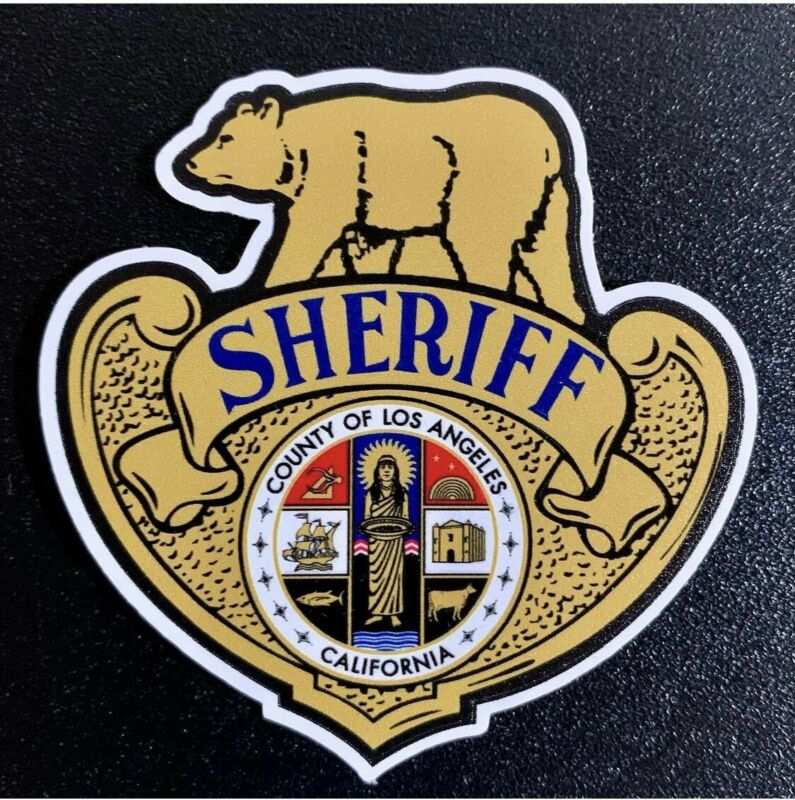 "Los Angeles County Sheriff Dept ""Motors/Riot Helmet"" Vinyl Decal/Sticker"