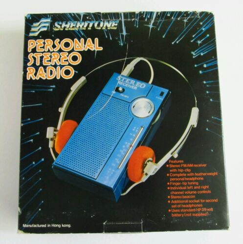 Sheritone personal stereo radio vintage retro 80's