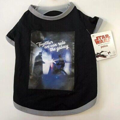 NEW Petco STAR WARS A New Hope T-Shirt SIZE L Halloween Darth Vader & - Star Wars Darth Vader Kostüm T Shirt