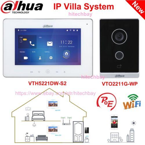 Dahua IP Video Intercom VTO2211G-WP Doorbell + VTH5221DW-S2 Monitor PoE WiFi App