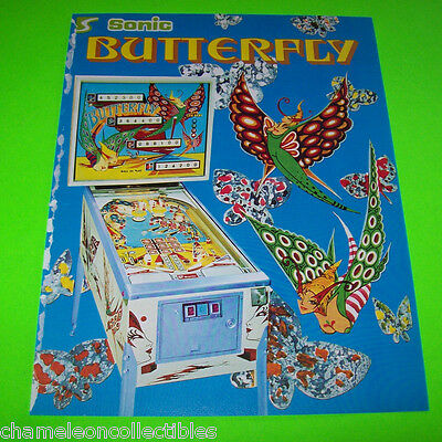 BUTTERFLY By SONIC 1977 ORIGINAL PINBALL MACHINE PROMO SALES FLYER