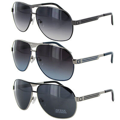 Guess Mens GUF115 Wire Rim Fashion Sunglasses