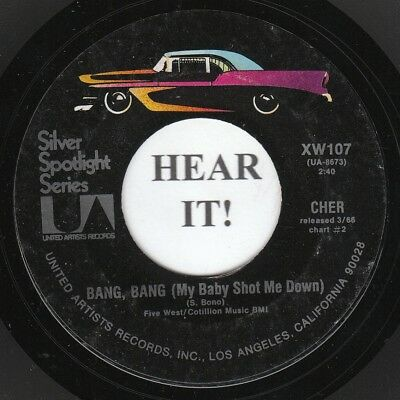 Cher 60s ROCK 45 (United Artists 107) Bang, Bang /You Better Sit Down VG++/MINT-