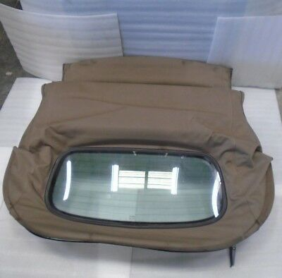 DK802208 1997-2003 JAGUAR XK8 CONVERTIBLE SOFT TOP ROOF COVER ASSEMBLY BROWN OEM