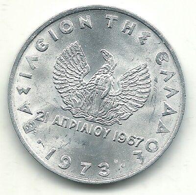 HIGH GRADE BU 1973 GREECE 20 DRACHMAI GODDESS ATHENA PHOENIX COIN-JUL133 - Goddess Phoenix