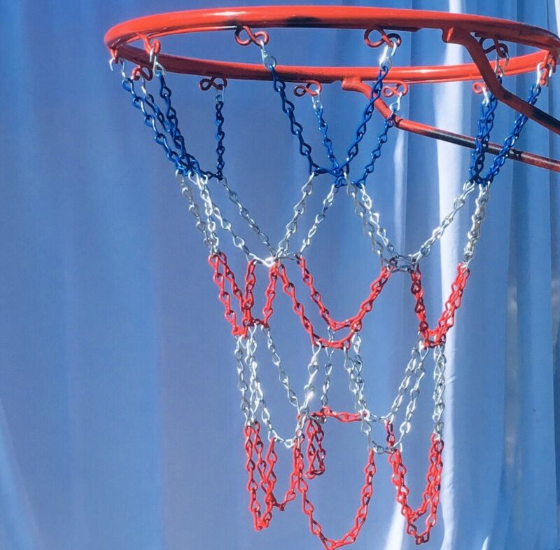 steel chain basketball net USA Red White And Blue