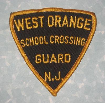 """West Orange School Crossing Guard Patch - New Jersey - 3 7/8"""" x 4"""""""