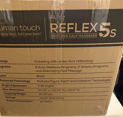 New Human Touch Reflex5s Foot and Calf Massager