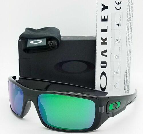 [OO9239-02] Mens Oakley Crankshaft Sunglasses Black Frame Jade Iridium Lens