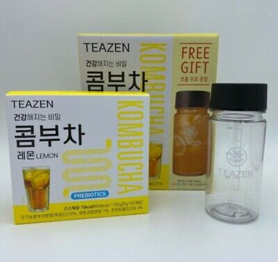 TEAZEN Kombucha Lemon Powder stick 5gx30ea Bottle Prebiotics BTS Jungkook Choice