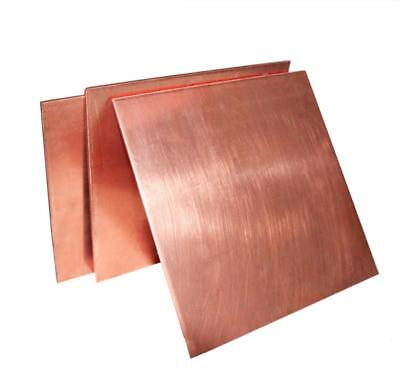 Us Stock 2mm X 100mm X 100mm 99.9 Pure Copper Cu Metal Sheet Plate