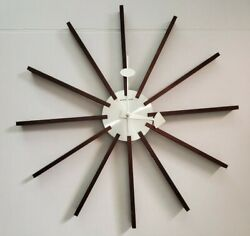 George Nelson Vitra Star Clock Wooden