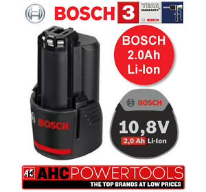 Bosch 10.8V-Li 2.0ah Li-ion Battery Pack fits all Bosch 10.8 Genuine UK CE