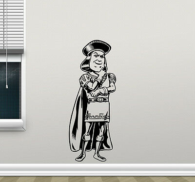 Lord Farquaad Shrek Wall Decal Vinyl Sticker Nursery Decor Poster Mural 271hor (Shrek Wall Decals)