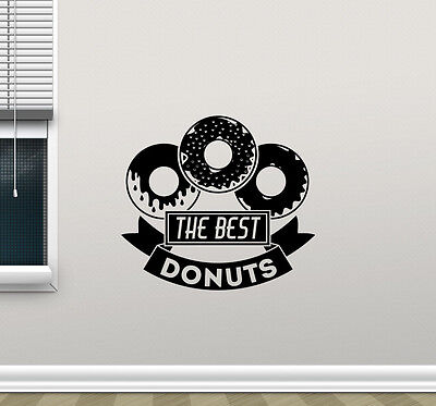 Best Donuts Wall Decal Bakery Shop Vinyl Sticker Decor Home Kitchen Poster