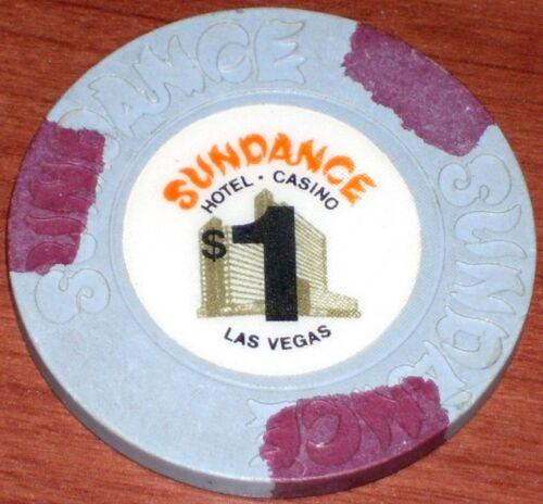 $1 VINTAGE 1st EDITION GREY CHIP FROM THE SUNDANCE CASINO LAS VEGAS NV
