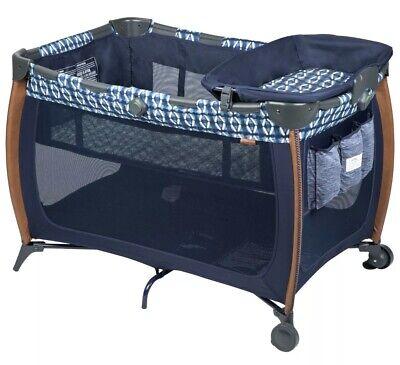 Monbebe Flex Deluxe Playard Pack'n Play Boho - Navy Blue - Brand New in Box