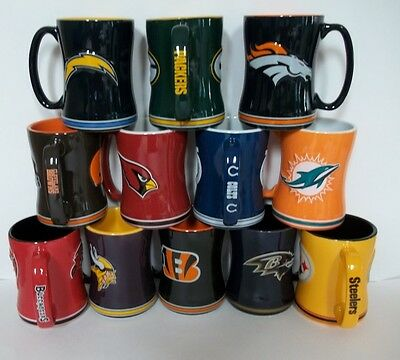 "NFL 15 oz. Sculpted ""Relief"" Coffee Mug~NEW"
