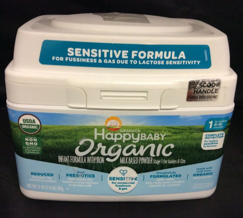 Organics Happy Baby Infant Formula (21 oz) Sensitive Formula